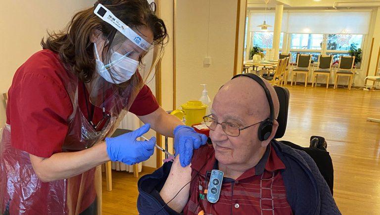 Vaccination på Kavat Vård.